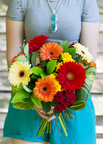 Gerbera Spray Rose Bouquet Woombye Florist