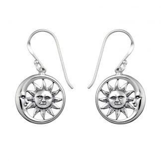 STERLING SILVER SOLEM AND LUNAM EARRINGS