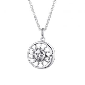 STERLING SILVER SOLEM AND LUNAM NECKLACE