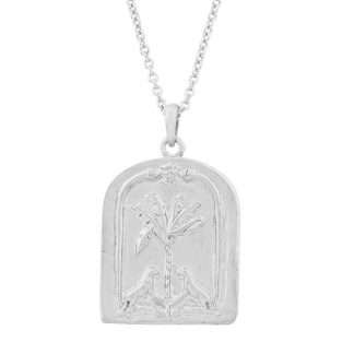 TAHNEE KELLAND- STERLING SILVER FACE YOURSELF OR RUN NECKLACE